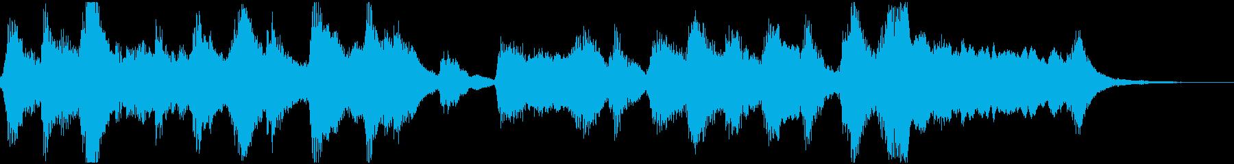 バイオリンと管弦楽のほのぼのジングルの再生済みの波形