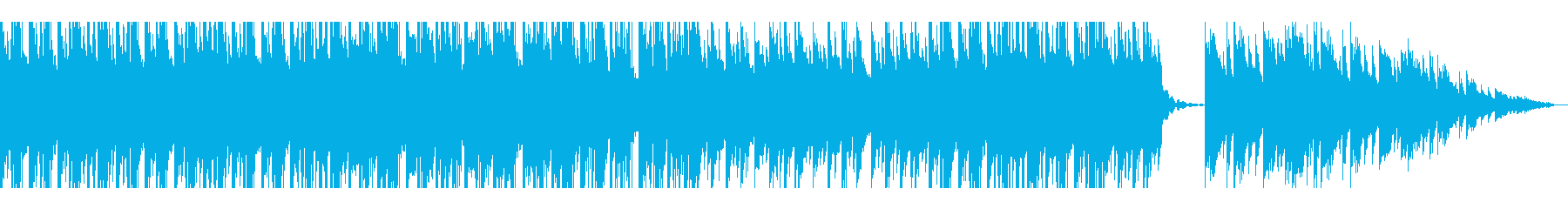 エレガントでお洒落な雰囲気のピアノ曲の再生済みの波形