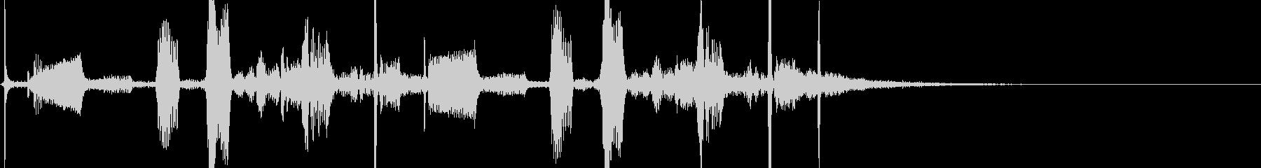 近未来の通信装置から出そうな音の未再生の波形