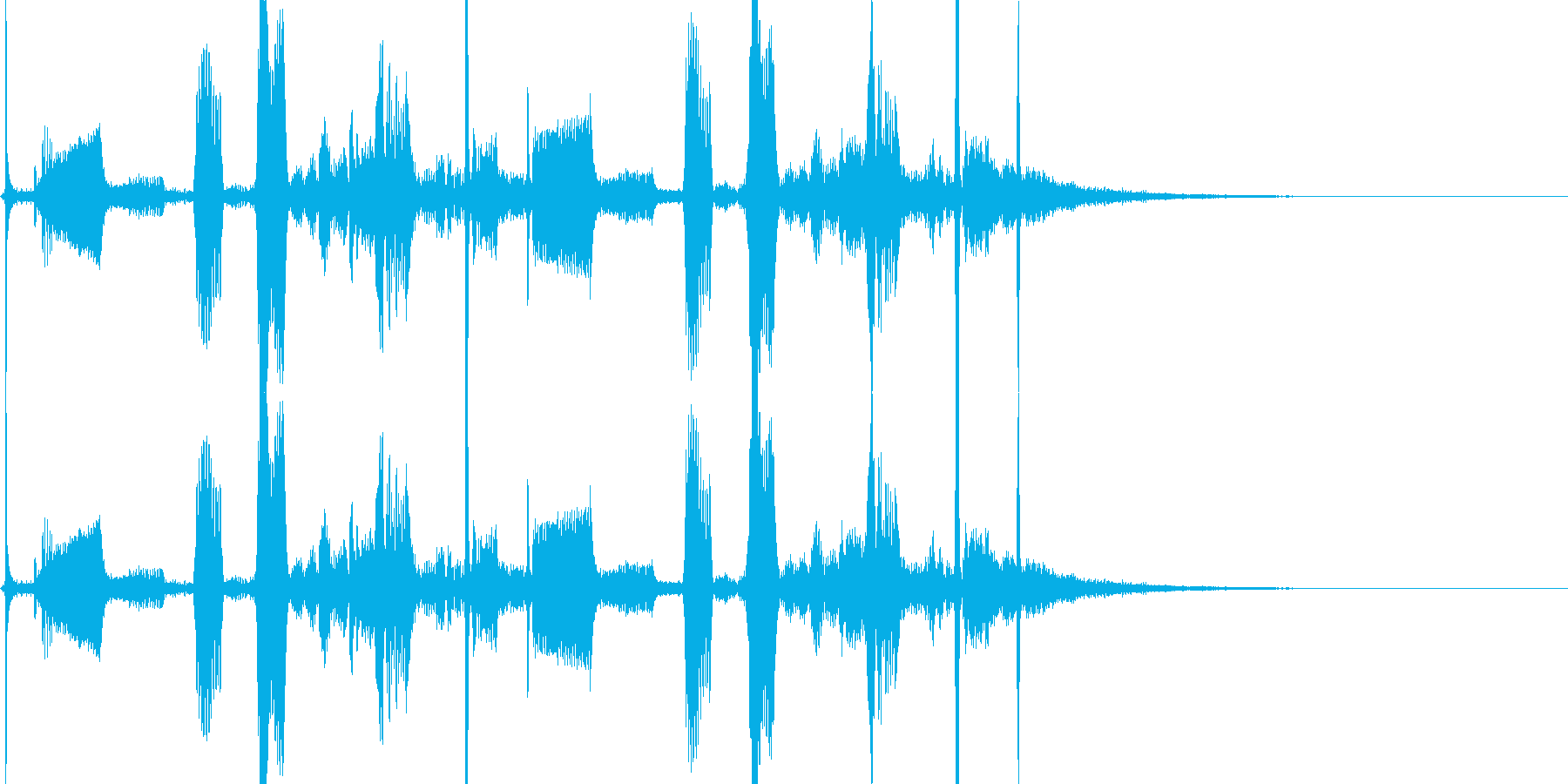 近未来の通信装置から出そうな音の再生済みの波形