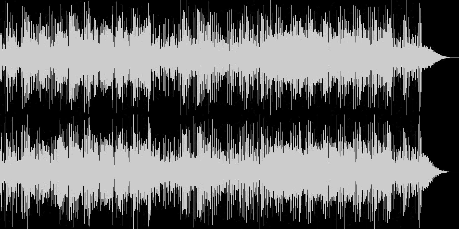 切ないフレーズが印象的なテクノ曲の未再生の波形