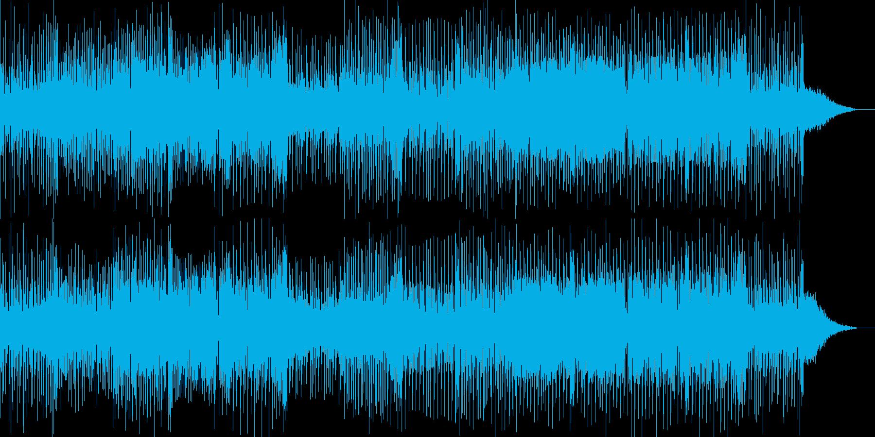 切ないフレーズが印象的なテクノ曲の再生済みの波形