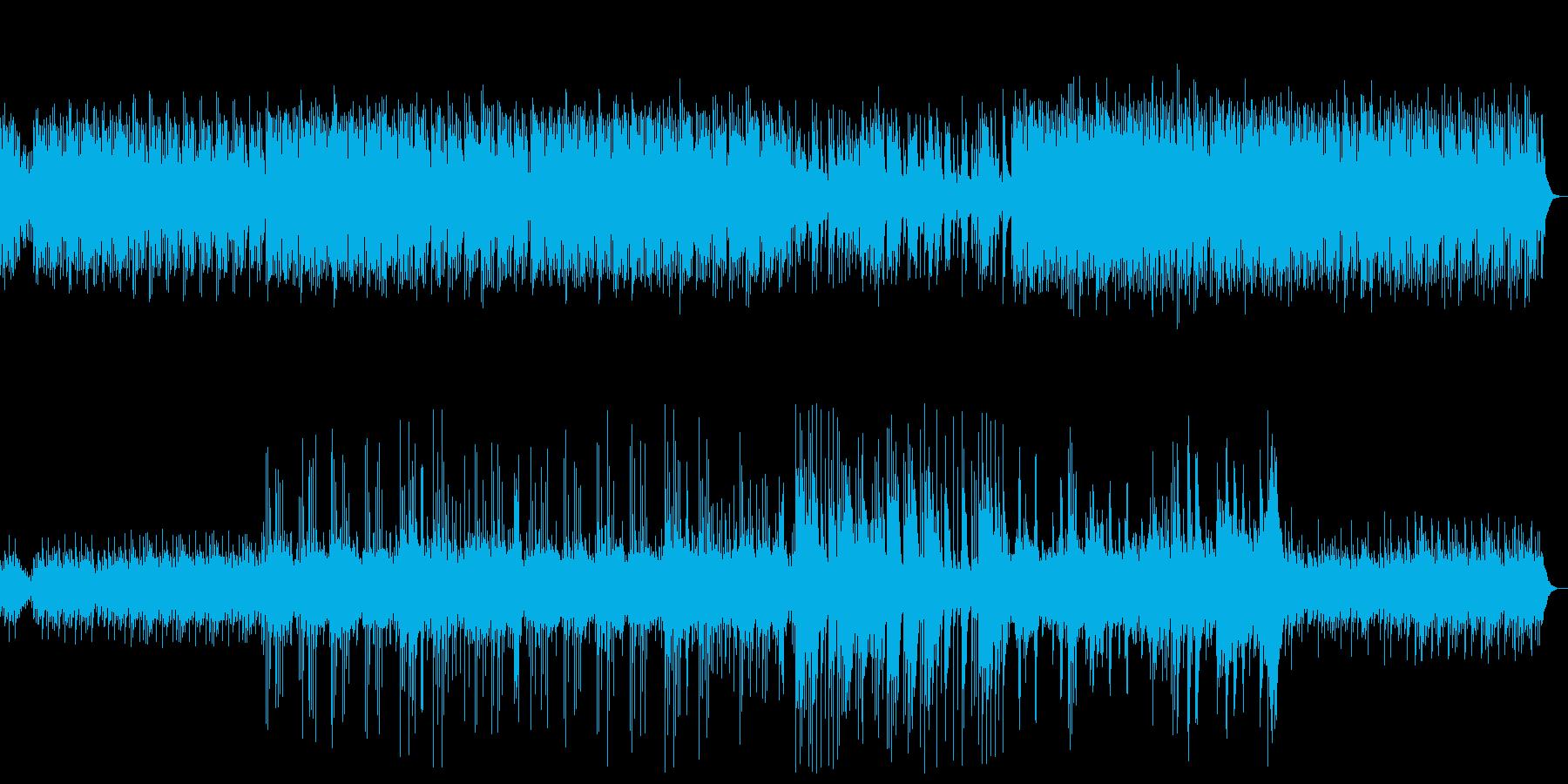 優しいピアノと自然音のヒーリングの再生済みの波形