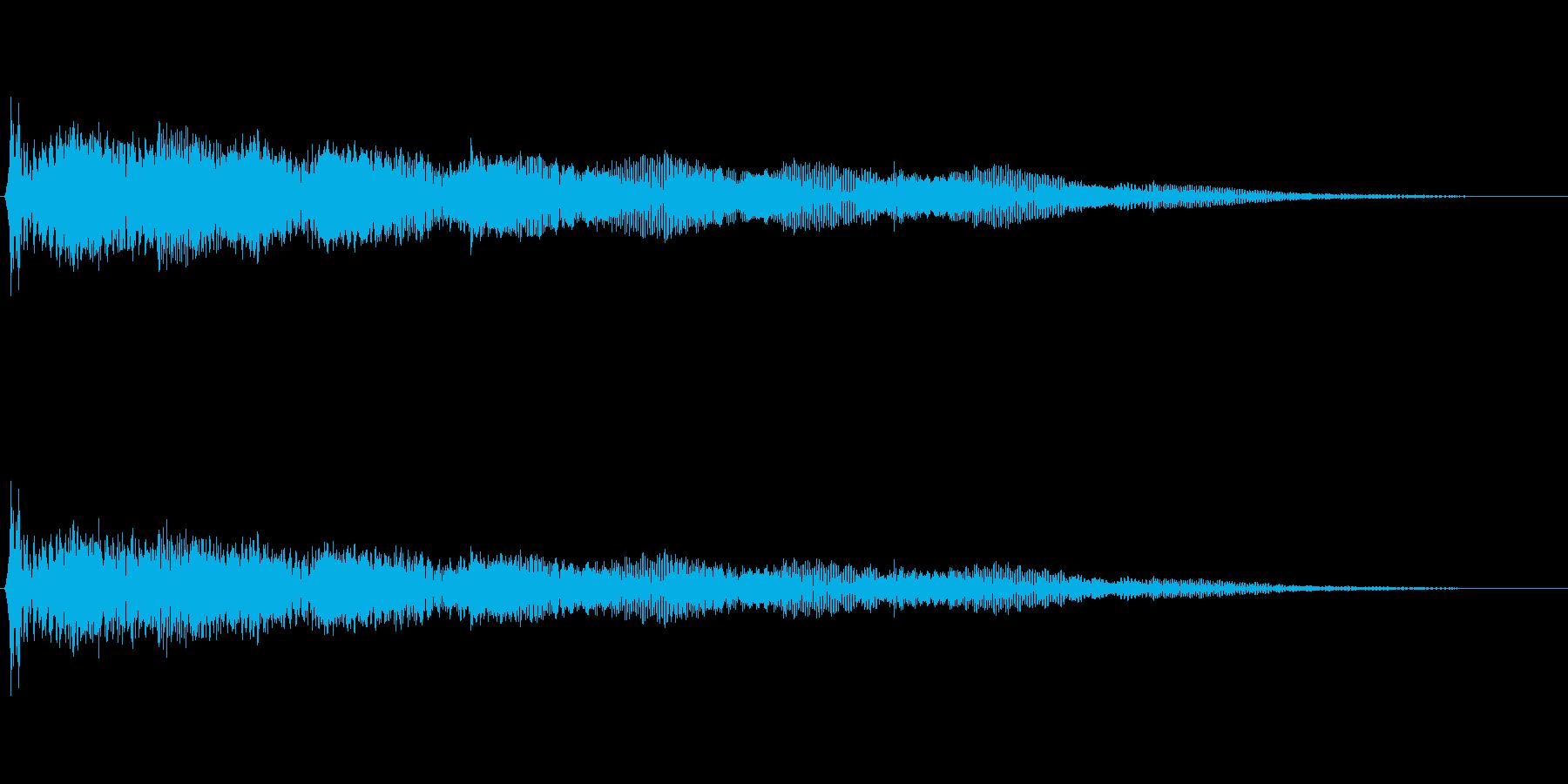 アニメ的ほのぼの系汗汗(あせあせ)音の再生済みの波形