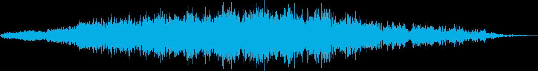 ピッチモジュレーションを備えた強烈...の再生済みの波形