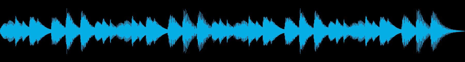 iPhoneみたいな着信音(マリンバ)の再生済みの波形