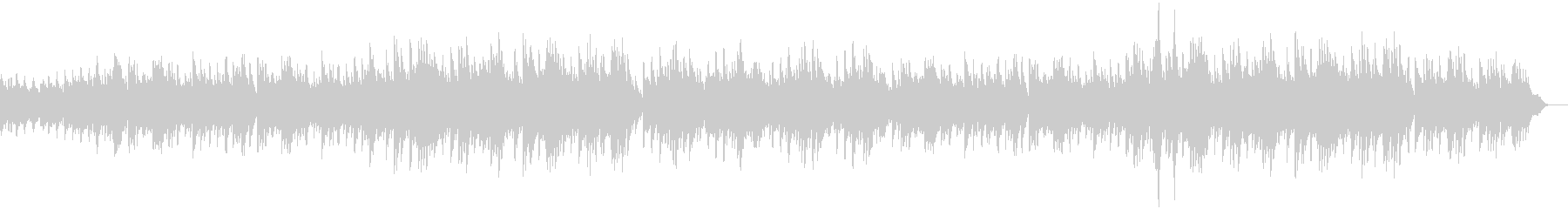 ピアノとストリングスの壮大なバラードの未再生の波形