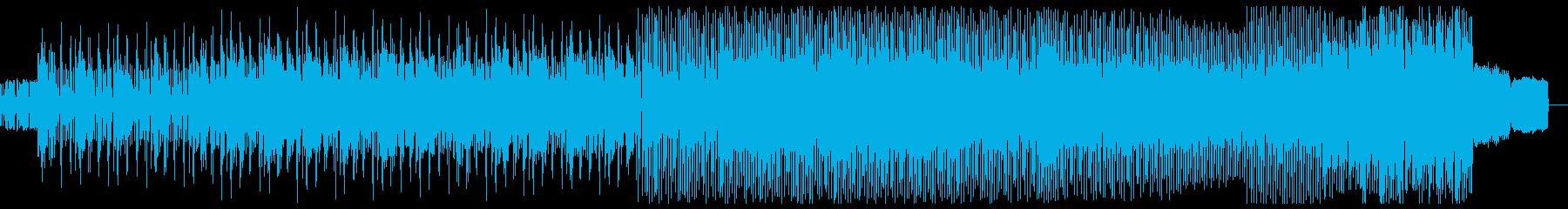 浮遊感満載の軽快なテクノの再生済みの波形