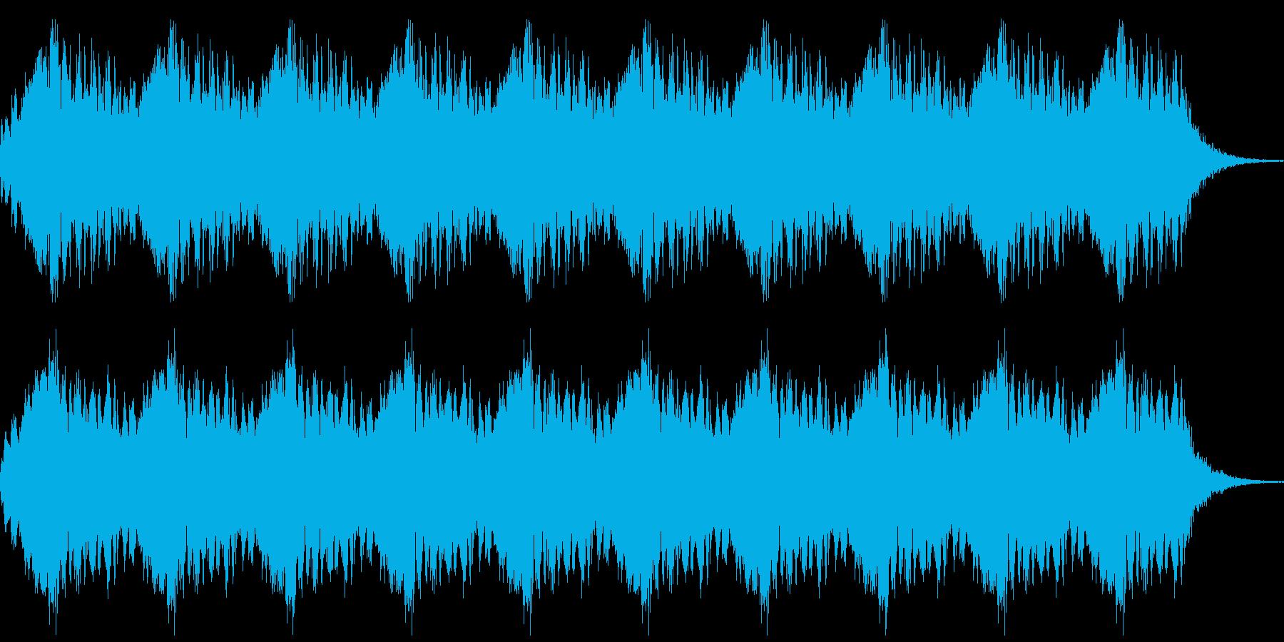 サイレンのループの再生済みの波形