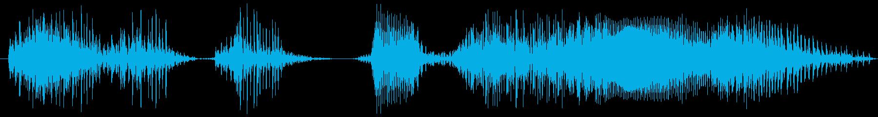 かかってこいの再生済みの波形