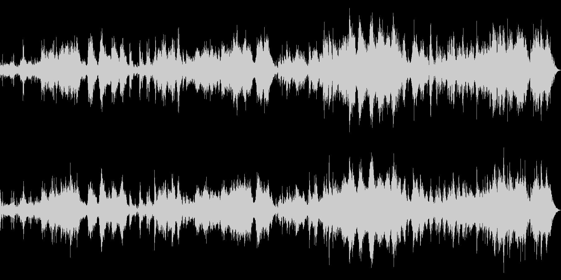 ピアノ、パッド中心の癒し系アンビエントの未再生の波形