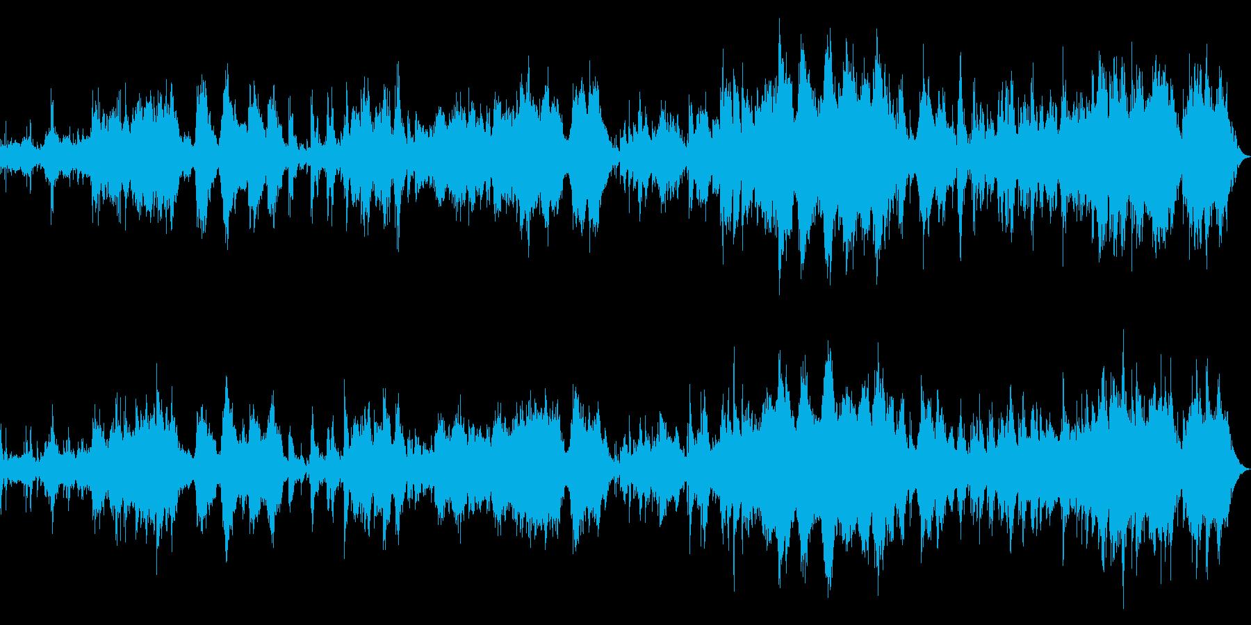 ピアノ、パッド中心の癒し系アンビエントの再生済みの波形