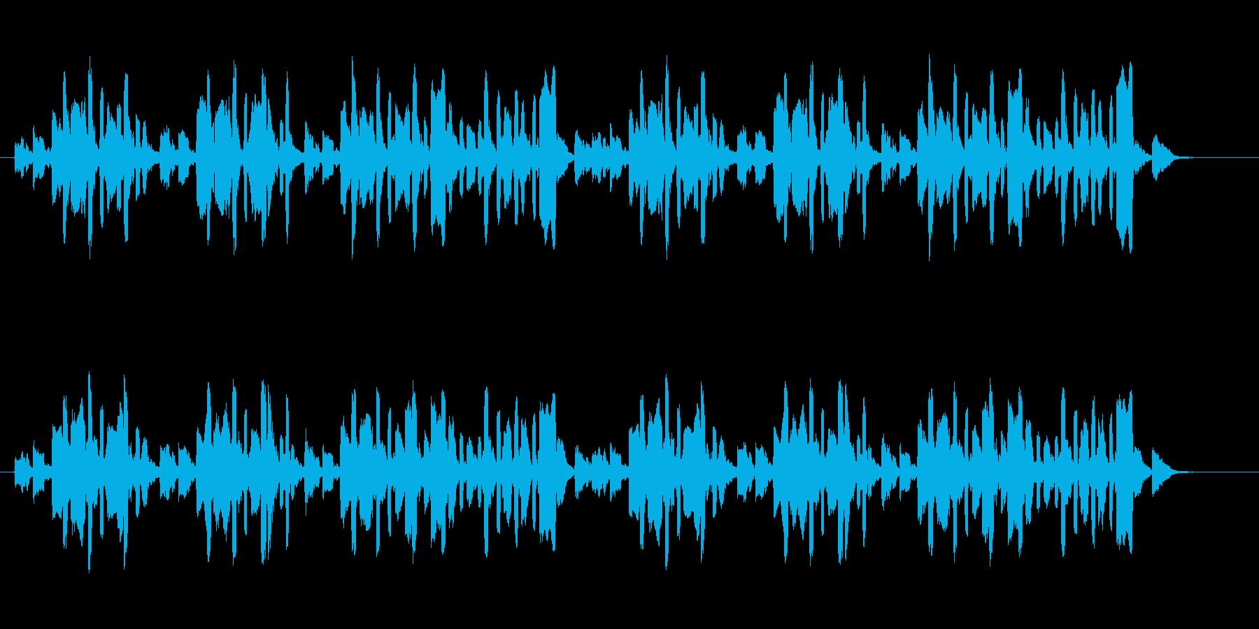 ほのぼのとした生演奏リコーダーとピアノの再生済みの波形