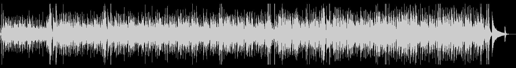 カフェBGM・ゆったりとしたジャズギターの未再生の波形