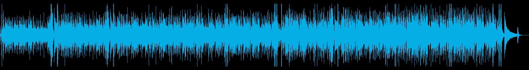 カフェBGM・ゆったりとしたジャズギターの再生済みの波形