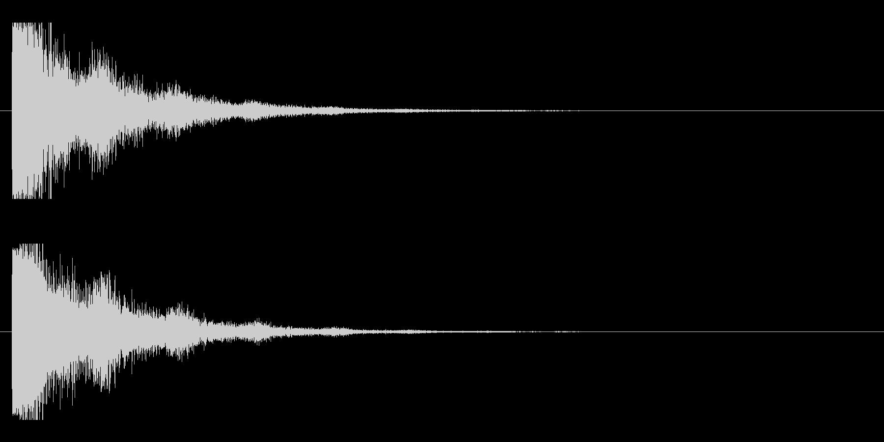レーザー音-19-2の未再生の波形