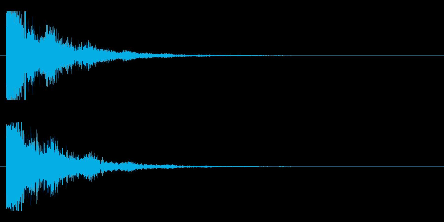 レーザー音-19-2の再生済みの波形