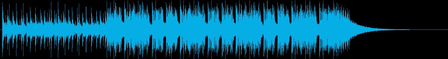 怪しいシンセの使いやすい30秒CM用の再生済みの波形
