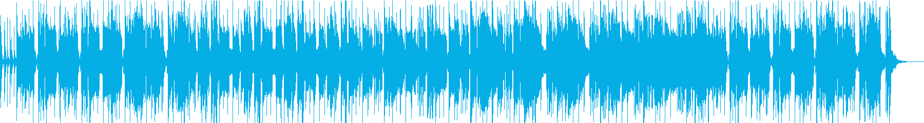 コミカルな追跡シーン風のブラスロックの再生済みの波形