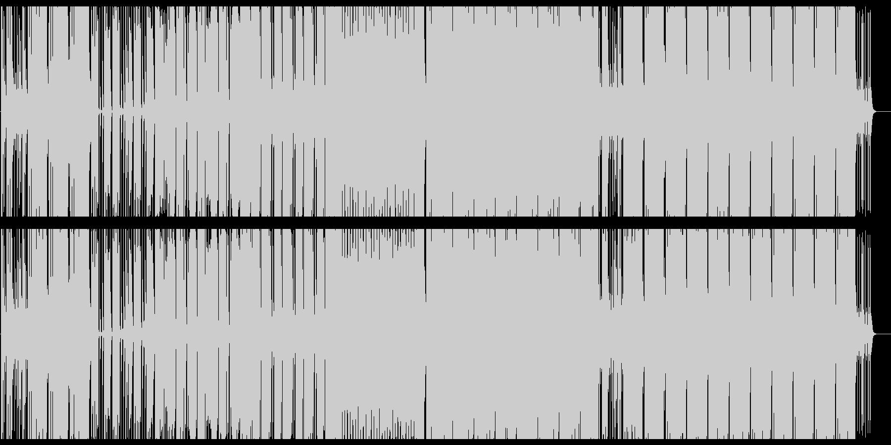 アップテンポで元気なビートサウンドの未再生の波形