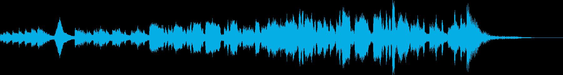 手回しオルゴール風メルヘンBGMの再生済みの波形