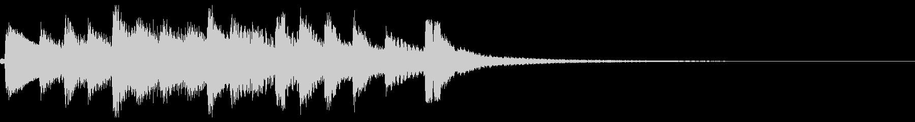和風 シンプル 琴のジングル2の未再生の波形