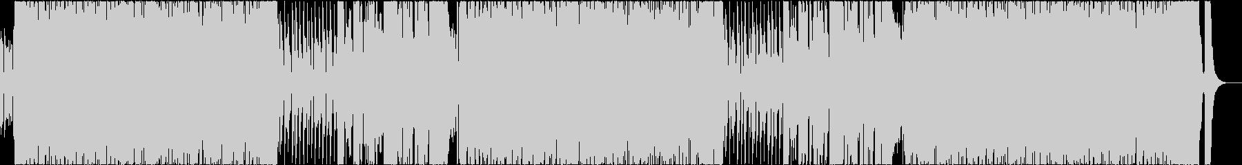明るくノリノリな南国風ブラスBGMの未再生の波形