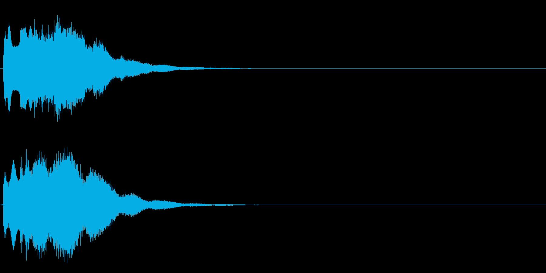 キラキラーン(超綺麗クリスタルな効果音)の再生済みの波形