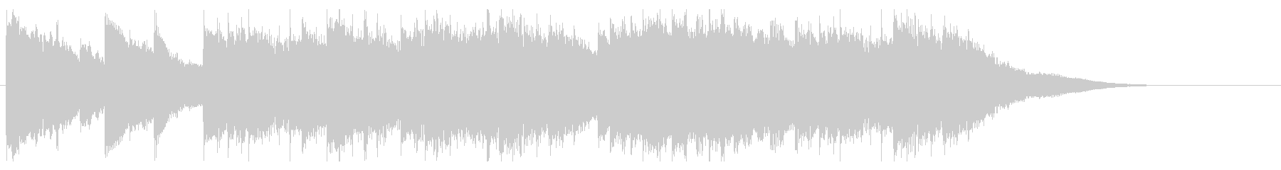 シンプルなピアノソロのBGM 30秒の未再生の波形