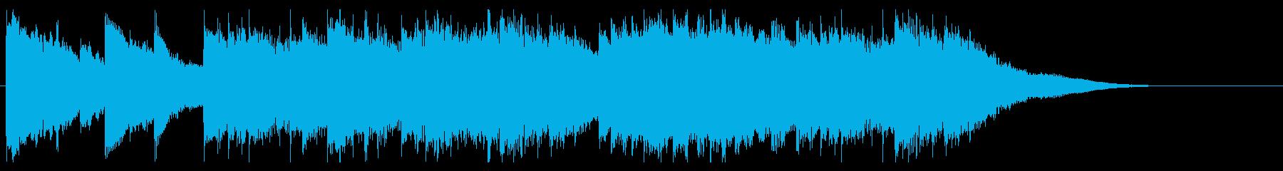 シンプルなピアノソロのBGM 30秒の再生済みの波形