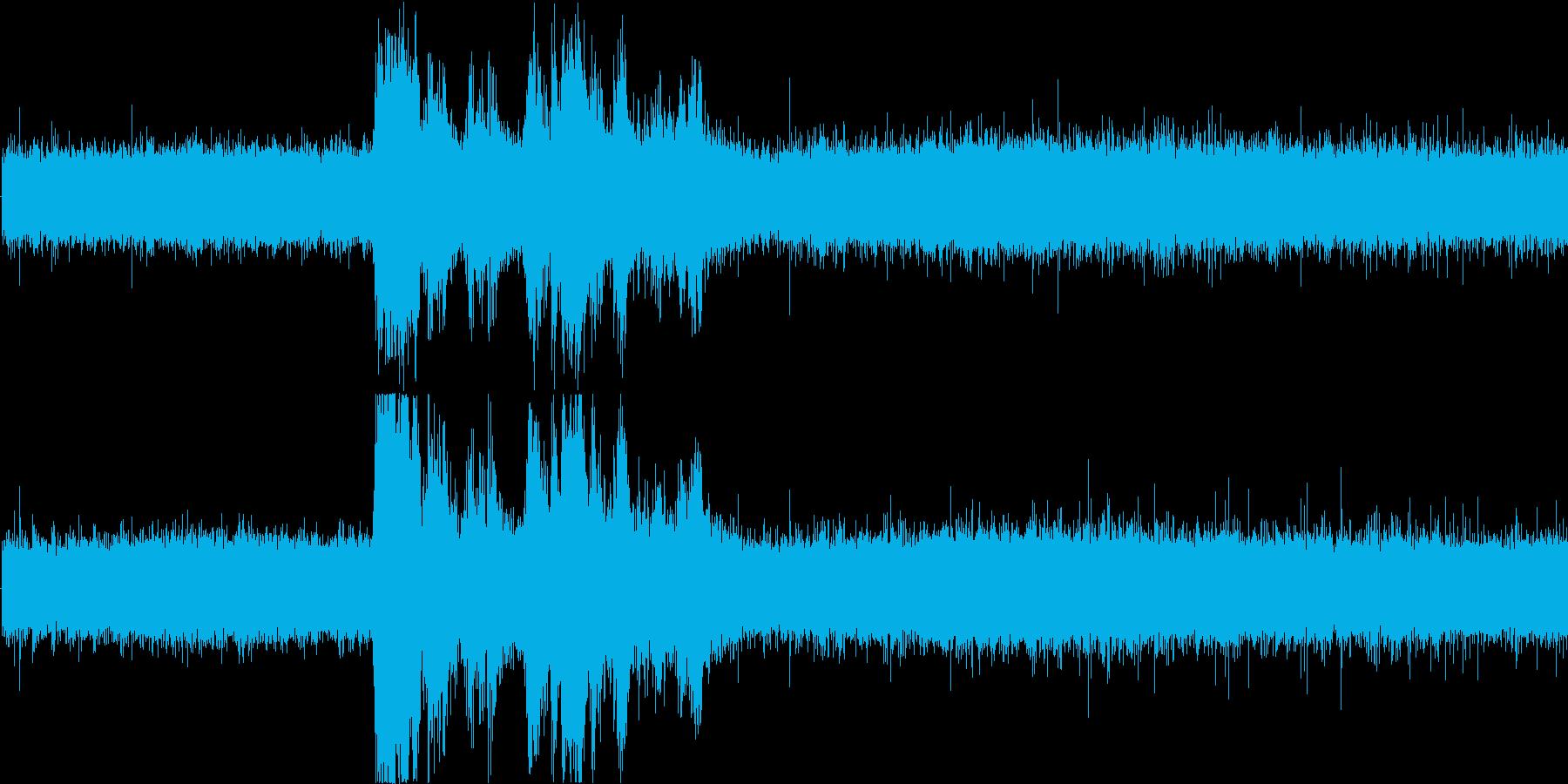 雨音と雷 2の再生済みの波形