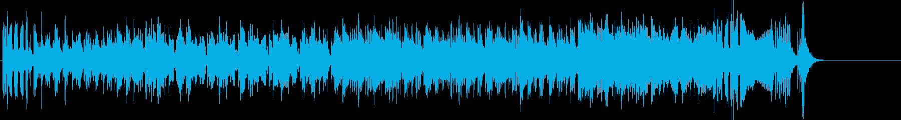 インパクトの強いエレクトリック・ファンクの再生済みの波形