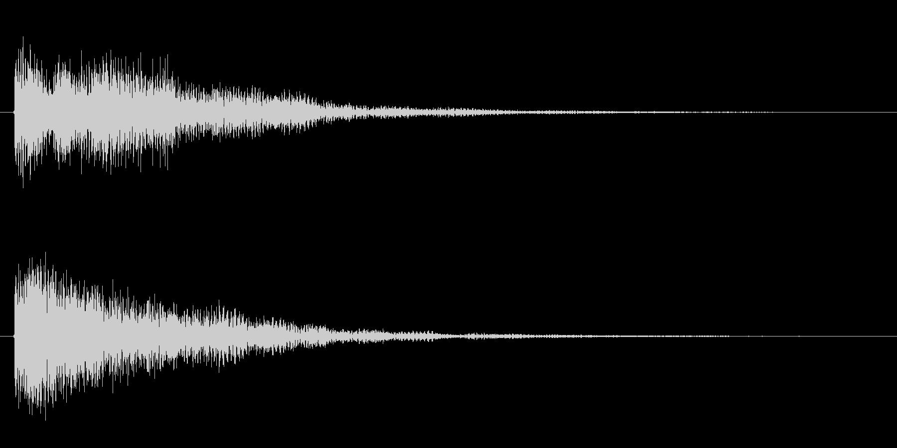 ゲームの決定音などに広く使えるサウンドの未再生の波形