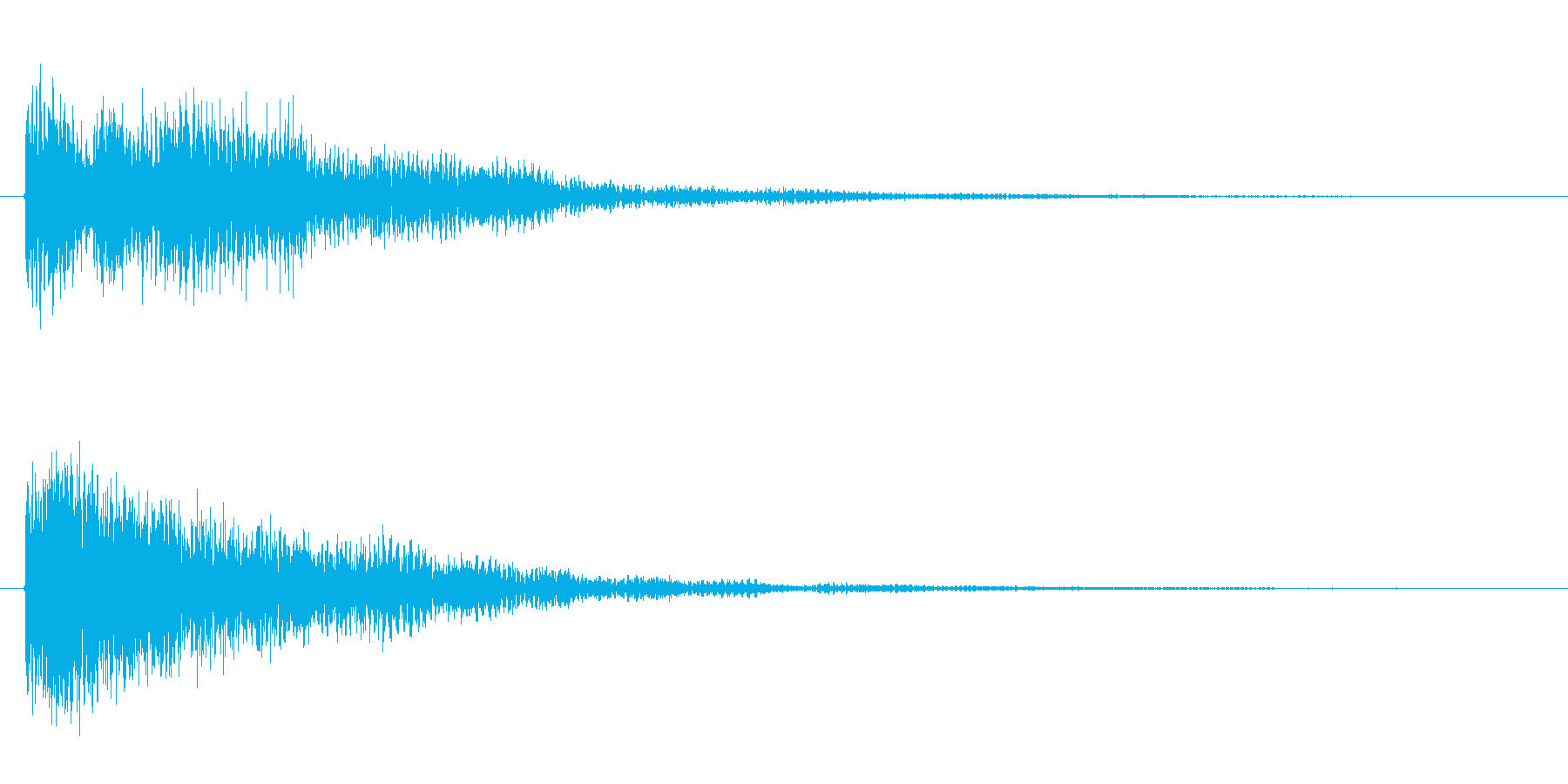 ゲームの決定音などに広く使えるサウンドの再生済みの波形