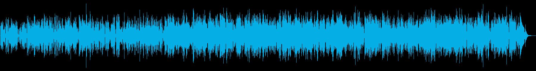 軽快なジャズファンク、サックスの再生済みの波形