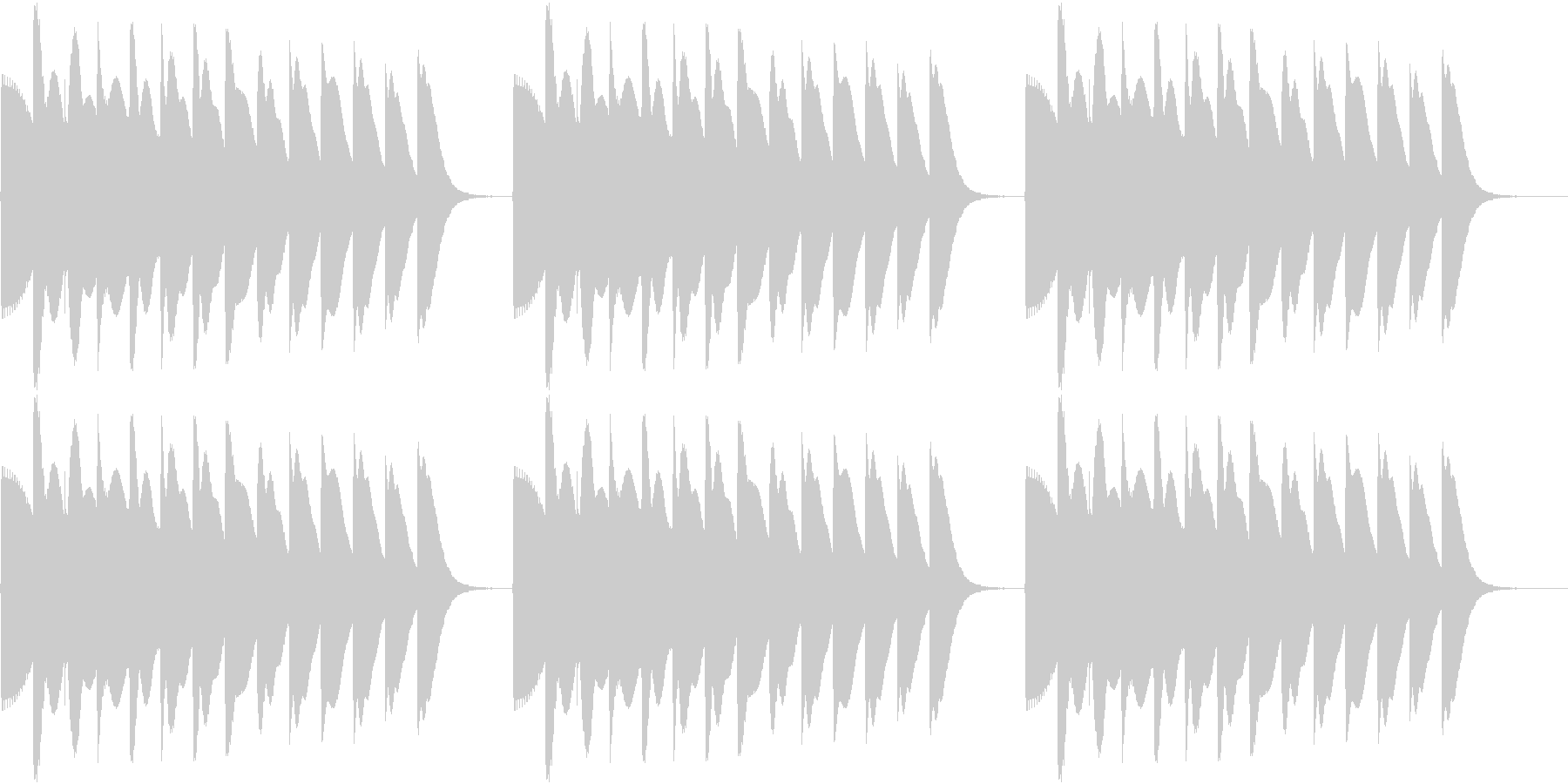 Game 懐かし昭和ゲーム台 リーチ音2の未再生の波形