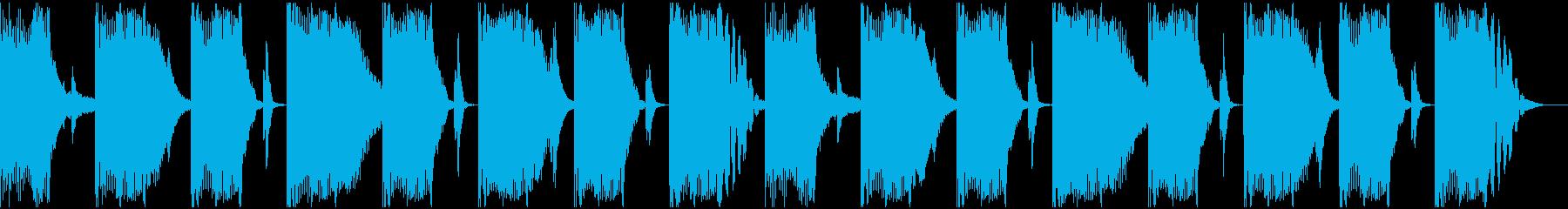 【エレクトロニカ】ロング2、ショート6の再生済みの波形