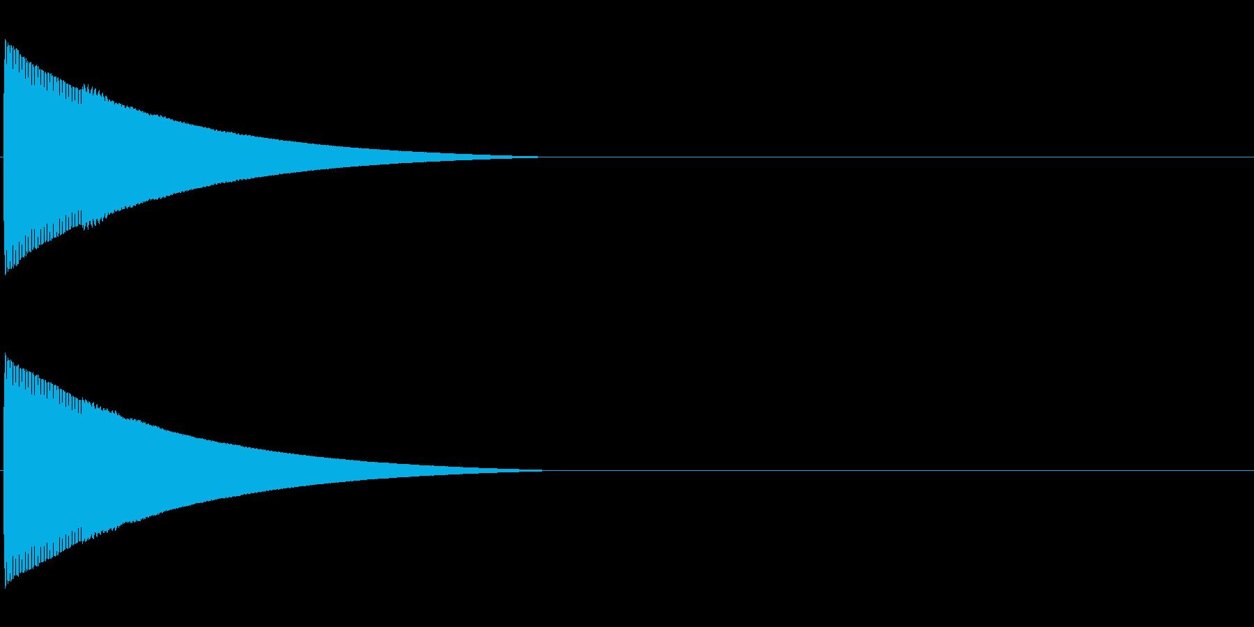 ピローン、ピコーンといった効果音「ファ」の再生済みの波形
