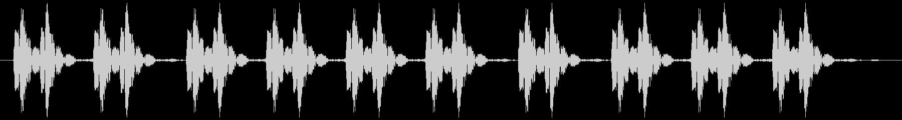 【心臓の脈動】心音【ドクンドクン・・】の未再生の波形