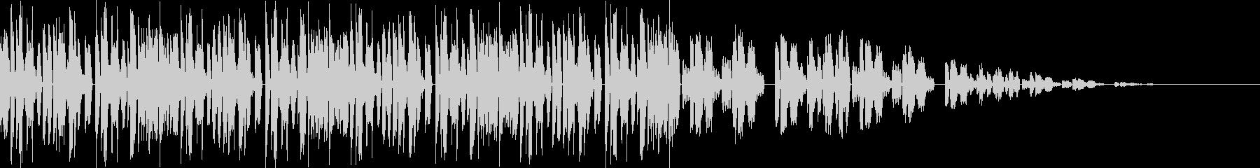 エレクトロのBGMの未再生の波形