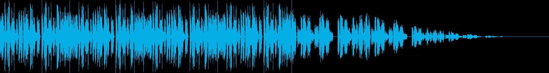 エレクトロのBGMの再生済みの波形