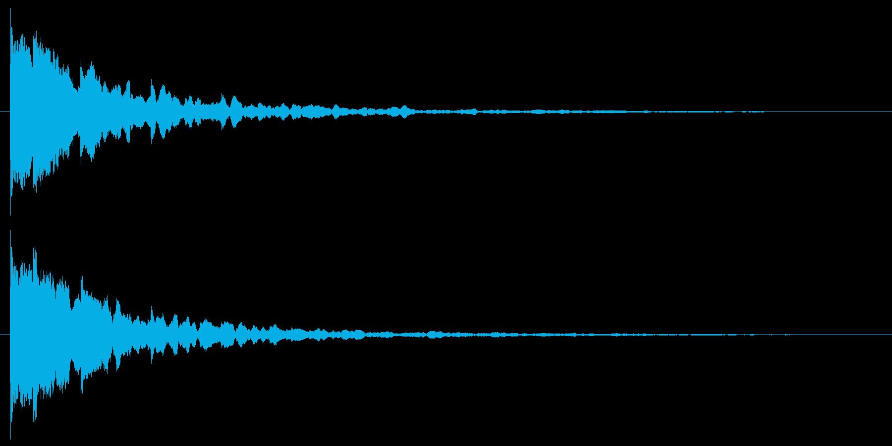 ピカーン 使い易いSEシリーズの再生済みの波形