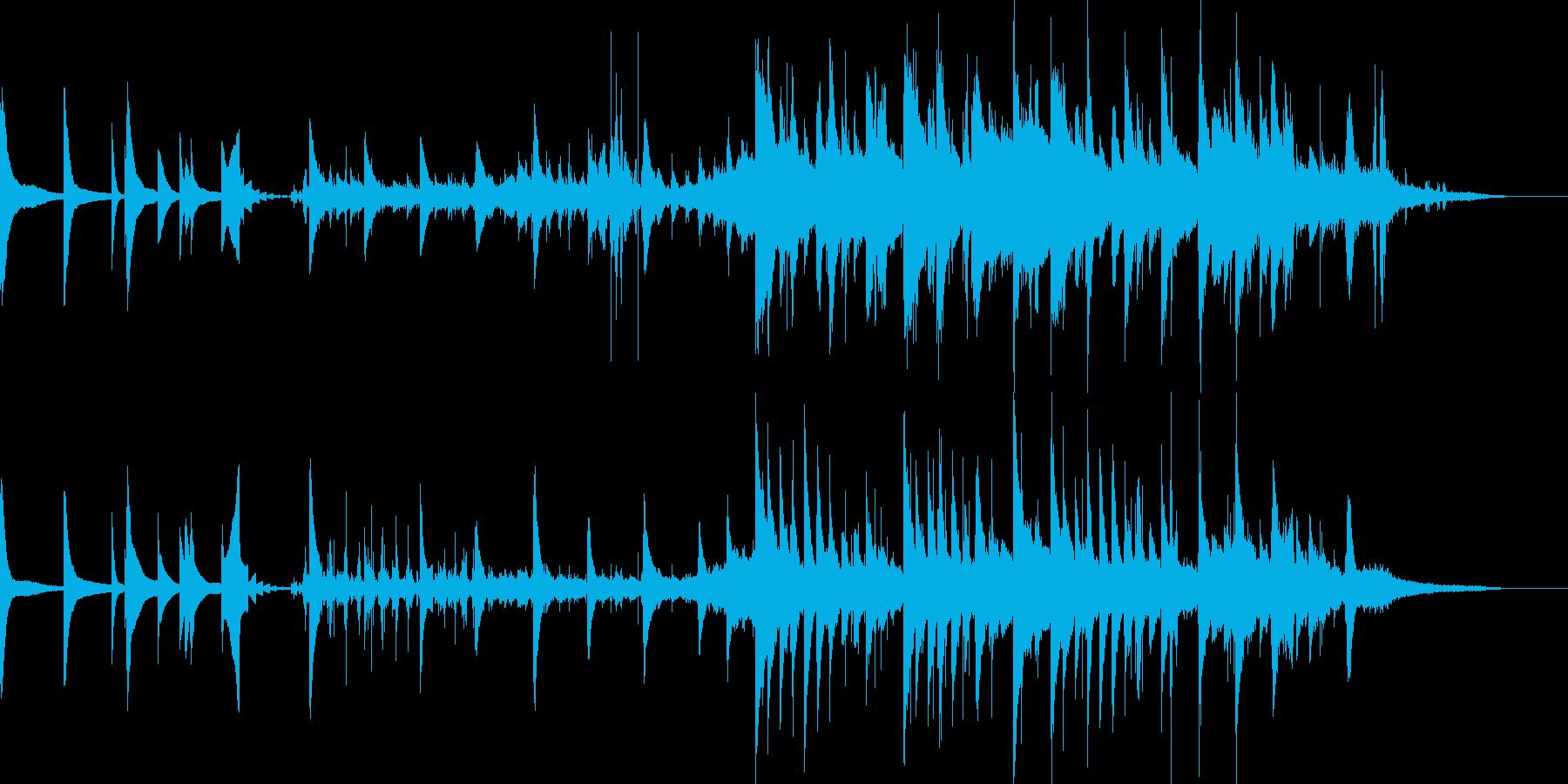 切なさのあるリアル系ピアノの再生済みの波形