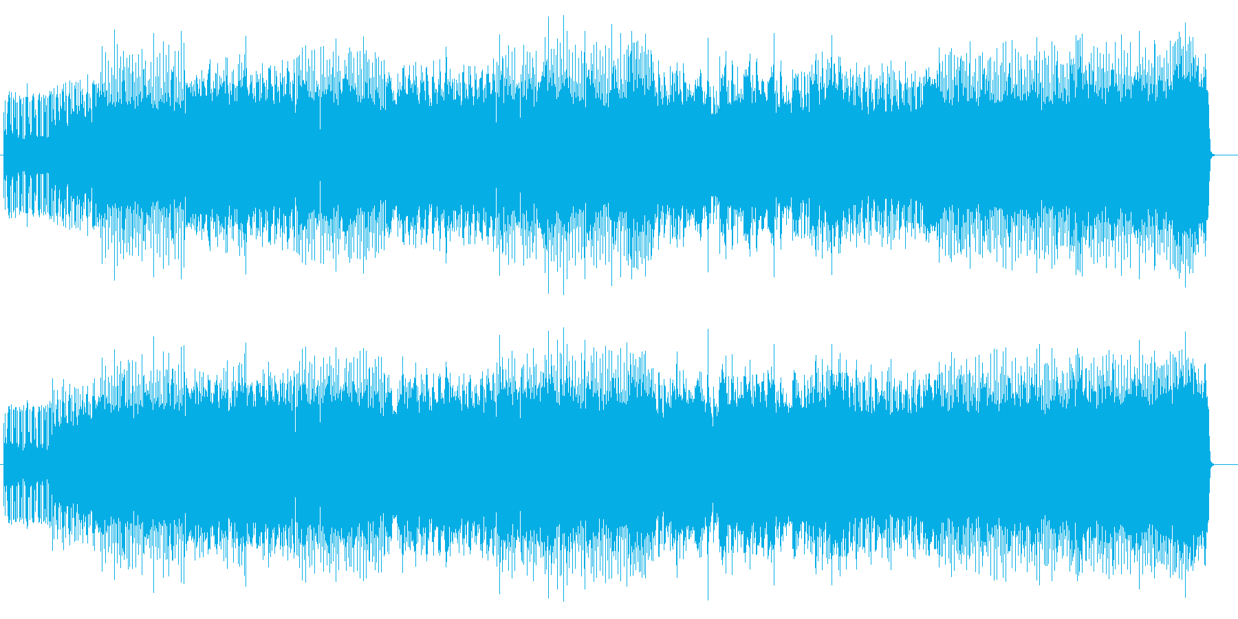 レースゲームに最適な疾走系メタル楽曲の再生済みの波形