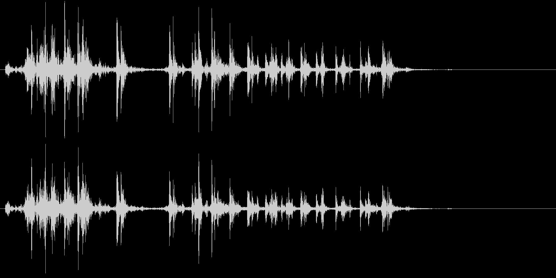 【生録音】カッターナイフの音 20の未再生の波形