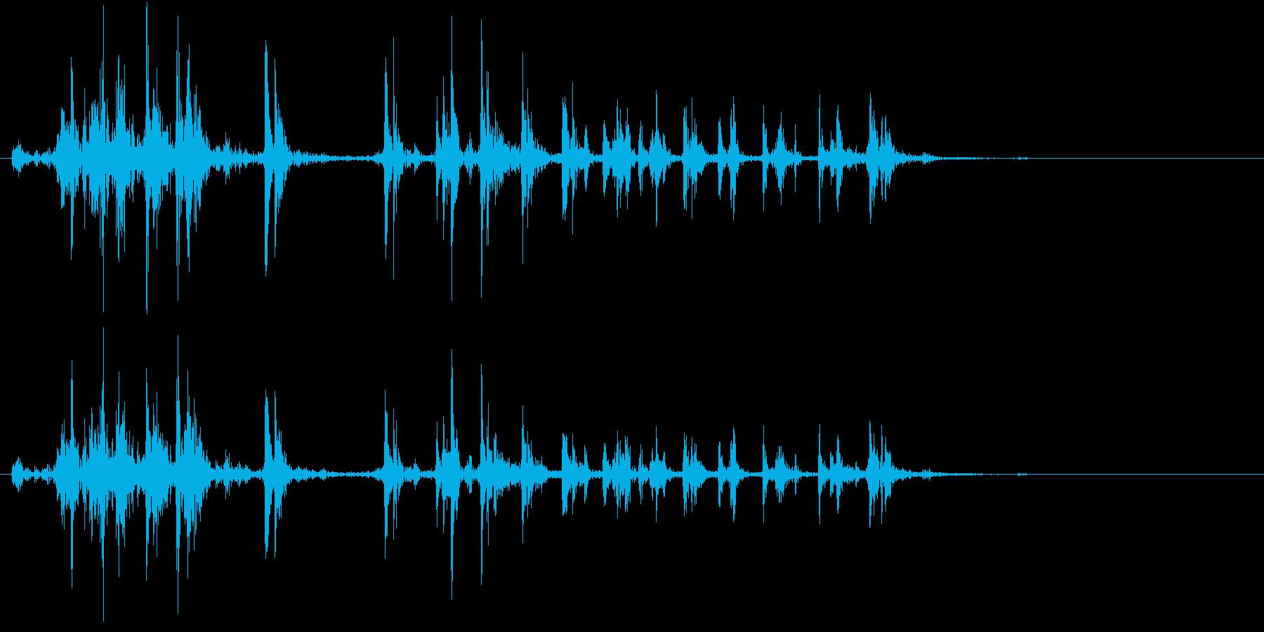 【生録音】カッターナイフの音 20の再生済みの波形