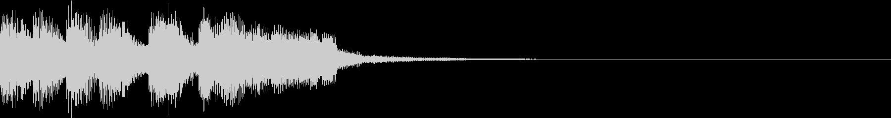 ファンファーレ アイテム レベルアップCの未再生の波形