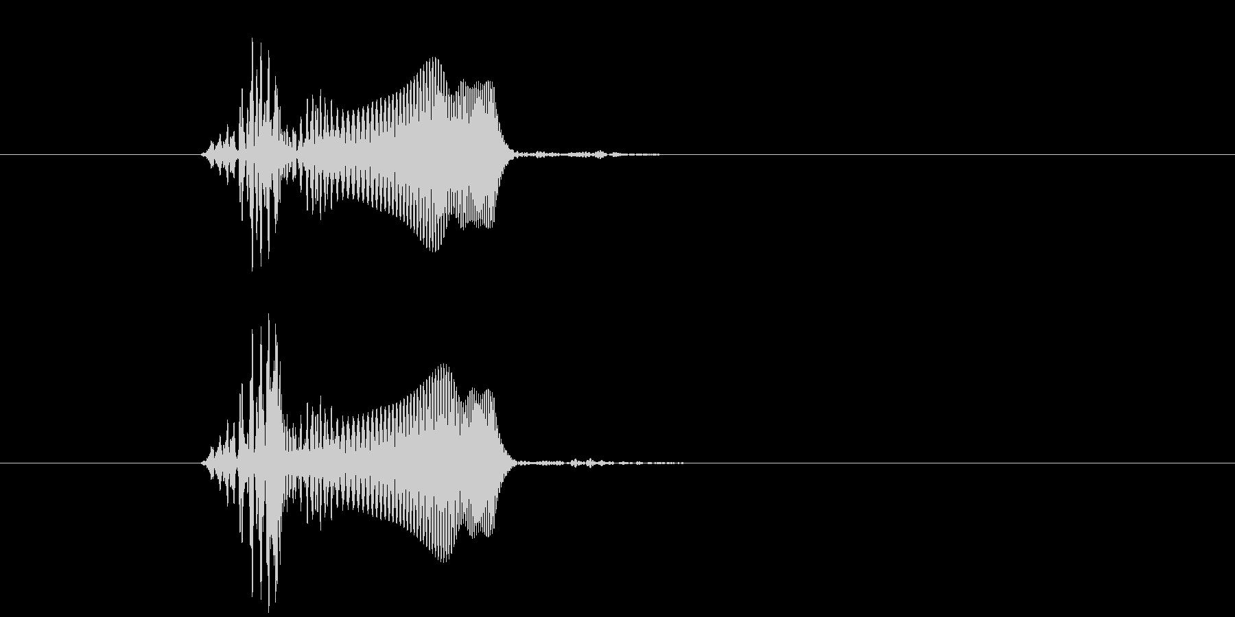 プヨ(スタンプ・肉球・柔らかい・動物)の未再生の波形