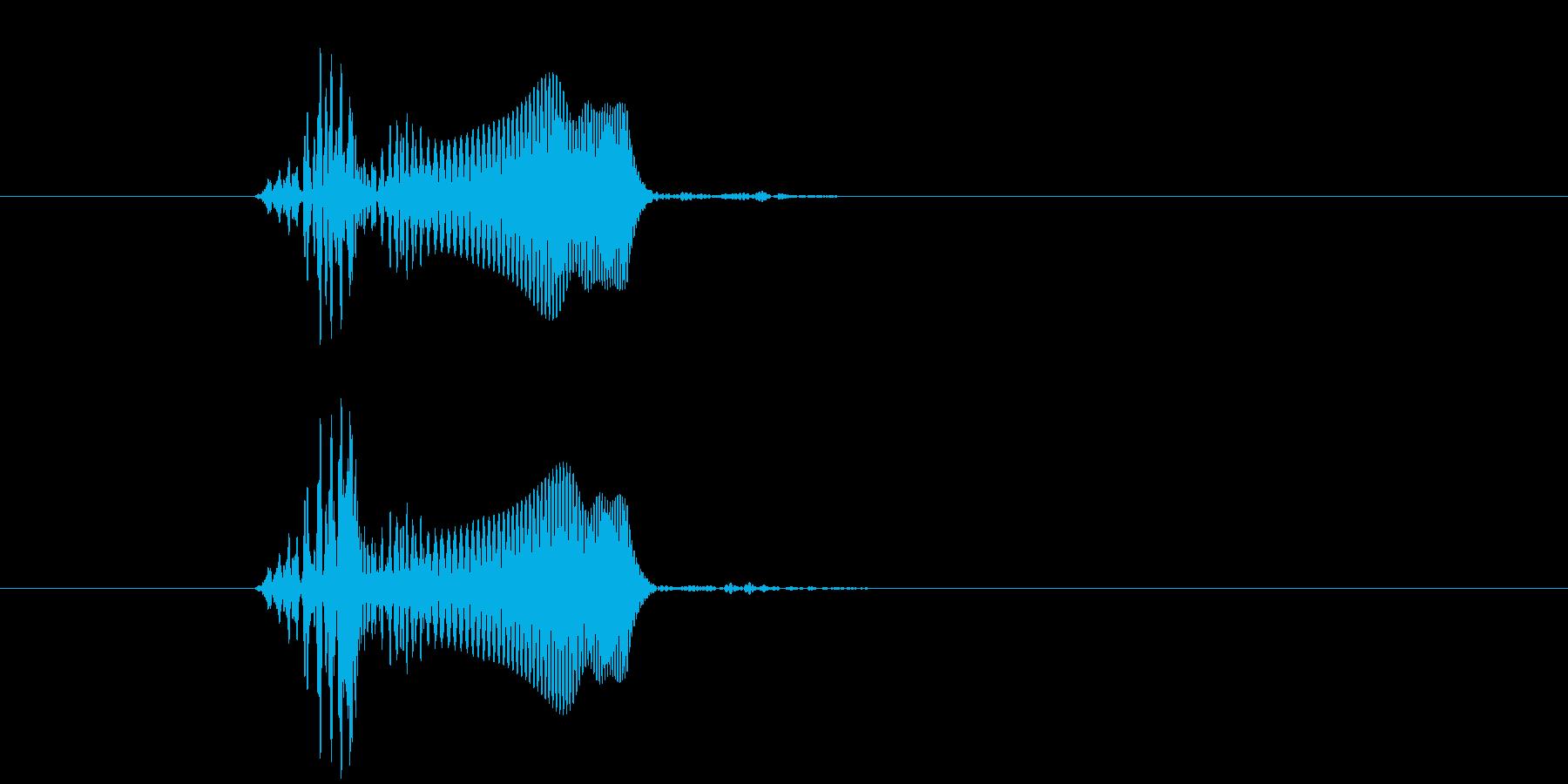 プヨ(スタンプ・肉球・柔らかい・動物)の再生済みの波形