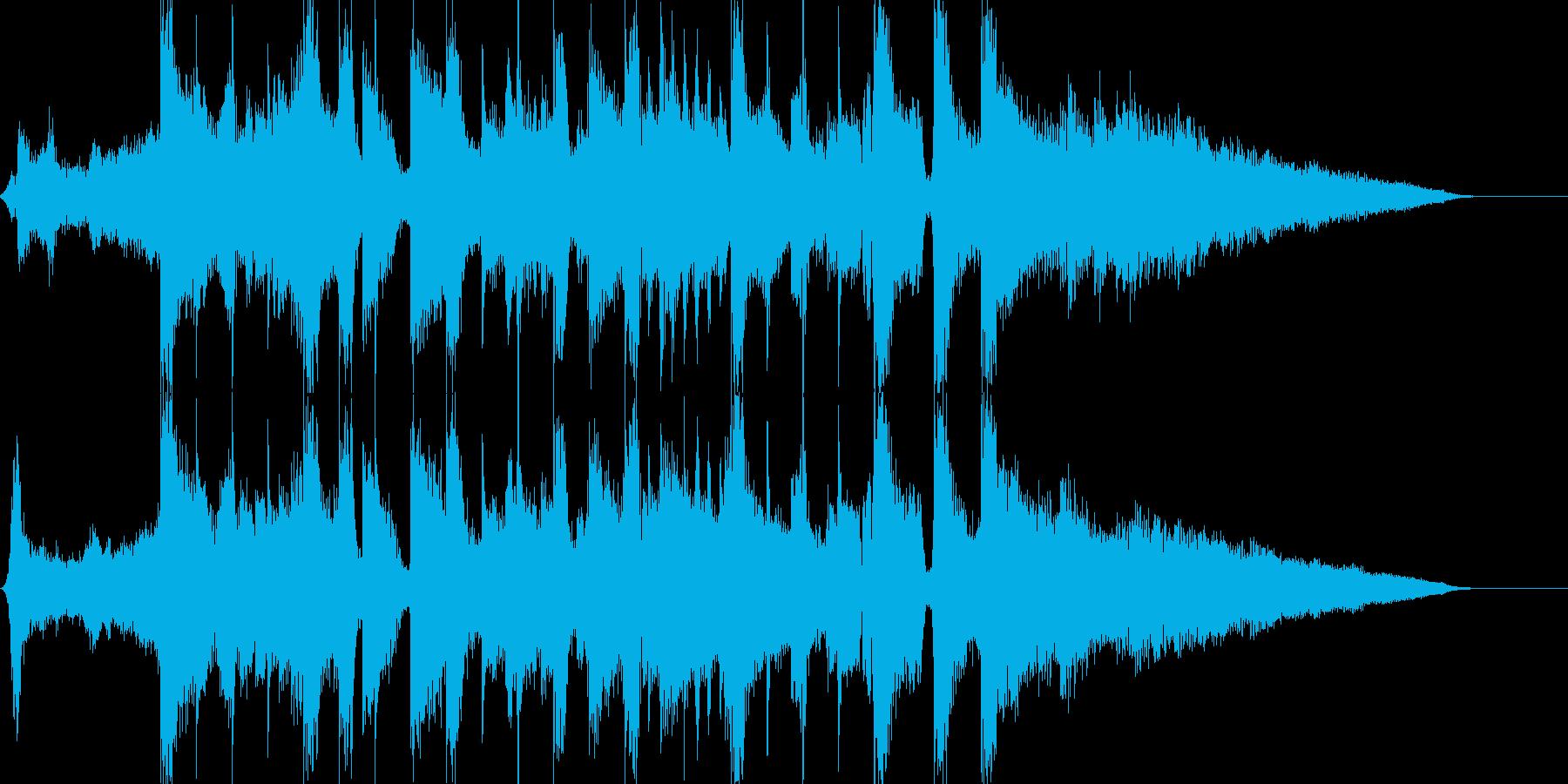 エレクトロサウンド15秒CM楽曲。の再生済みの波形